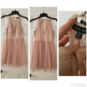 Pale pink homecoming/prom dress